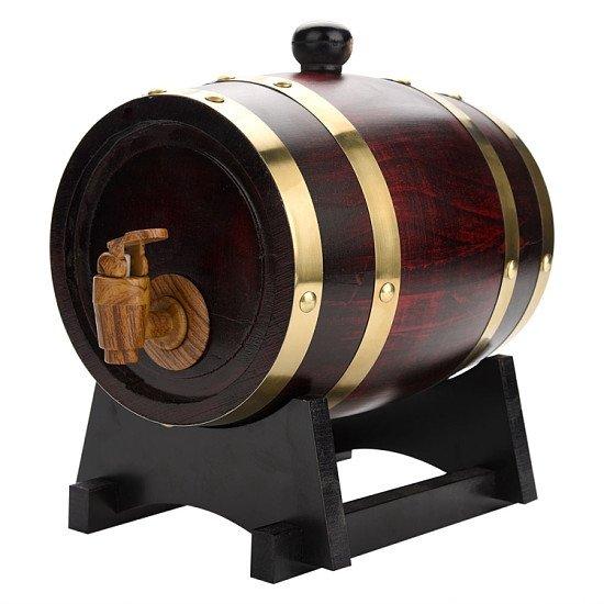 1.5L Vintage Wood Oak Timber Wine Barrel