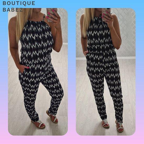 Zigzag Jumpsuit - 2 colours £21.99