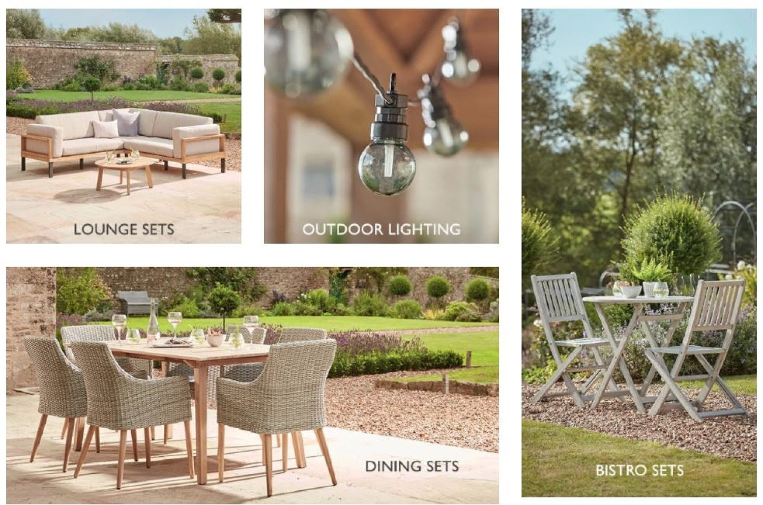 Extend your living with outdoor furniture and accessories full of interior style!