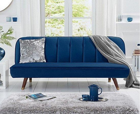SAVE on the Julianna Sofa Bed in Blue Velvet!
