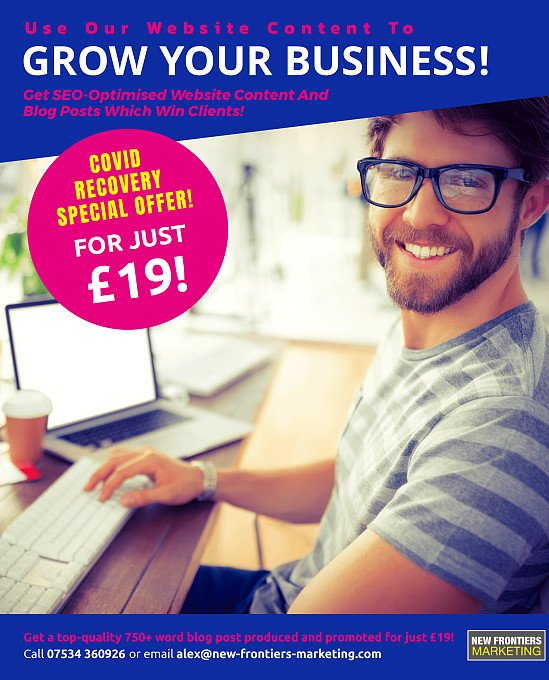 Get A Top-Quality Blog Post For £19!