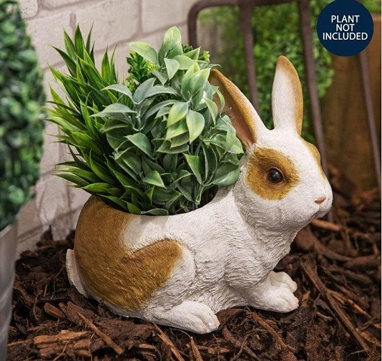 NATURECRAFT COLLECTION - RABBIT PLANTER