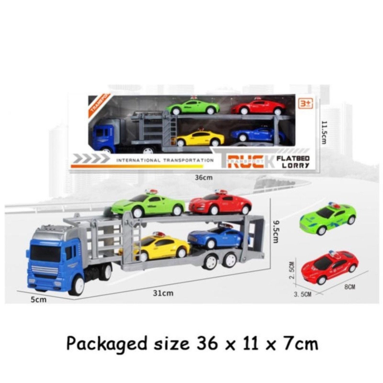 TRANSPORTER + 4 CARS