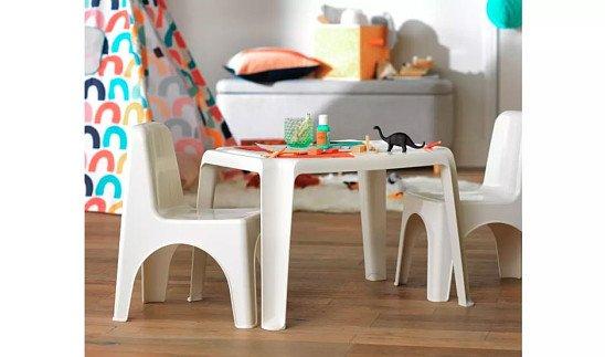 Argos Home Plastic Table - White: £10.00!