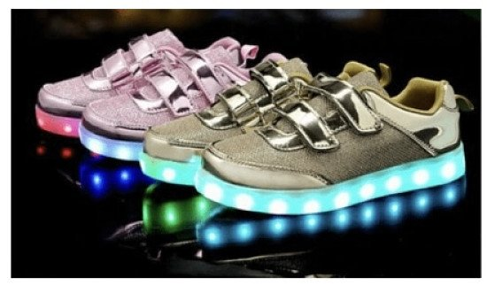 Kids Boy Girl Light Up LED Trainers