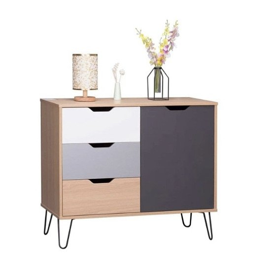 Olsen 1 Door 3 Drawer Sideboard