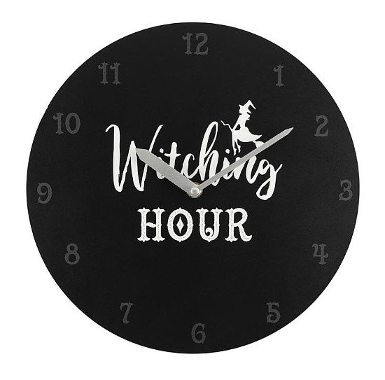 Black Witching Hour Clock