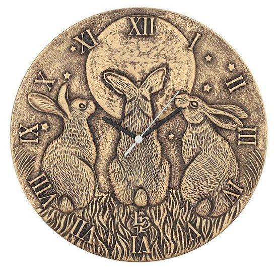 Terracotta Moon Shadows Clock
