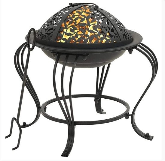 Fire Pit with Poker 49 cm Steel