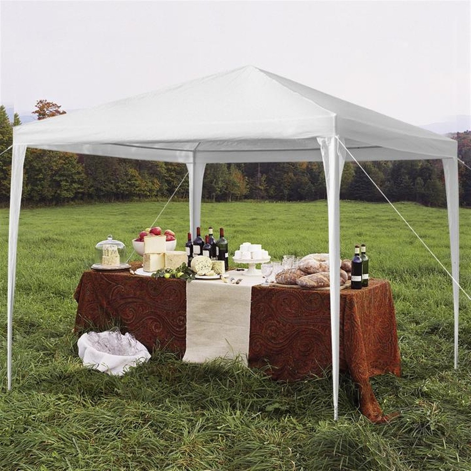 3 x 3m Waterproof Tent with Spiral Tubes White Free Postage