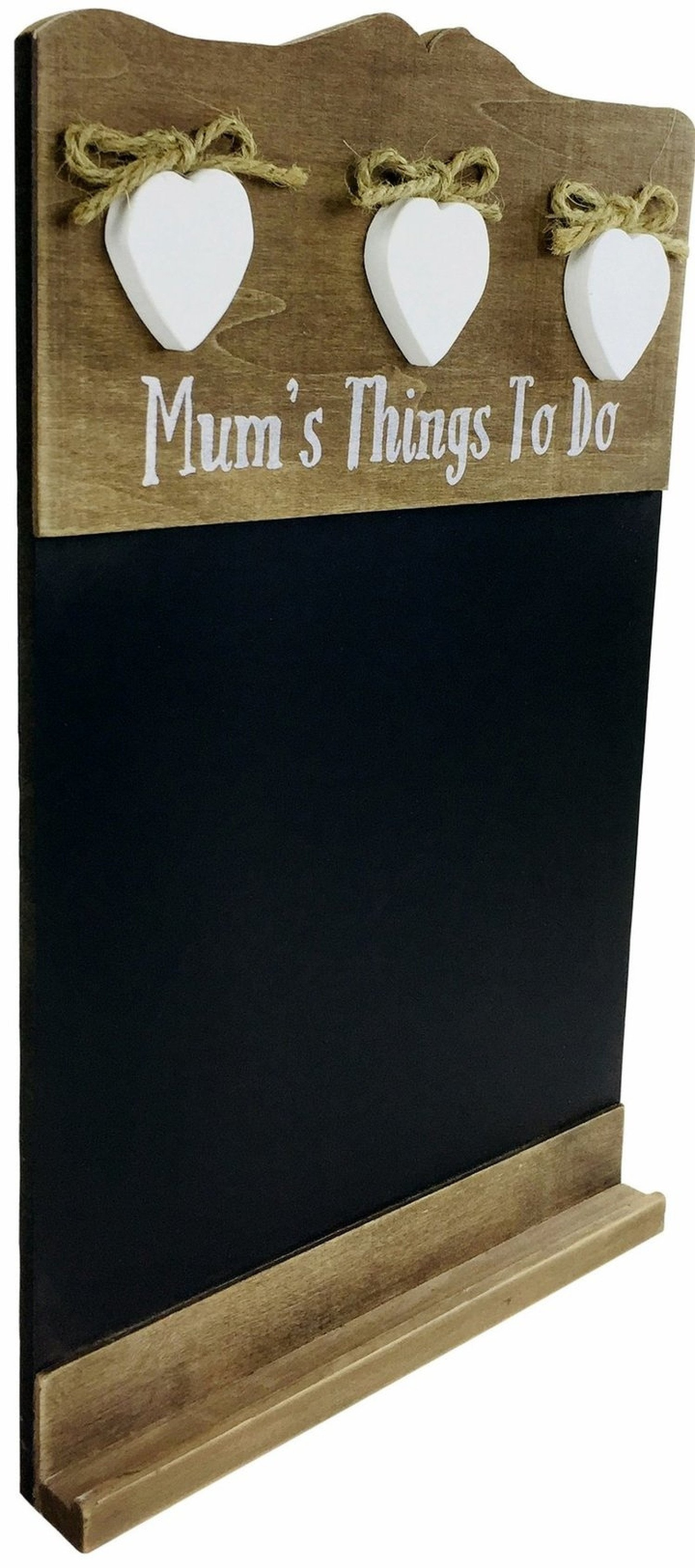 'Mum's Things To Do' Chalkboard With Three Love Hearts