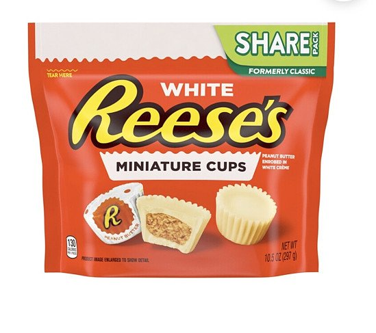 Reese's White Miniature Cups Share Size