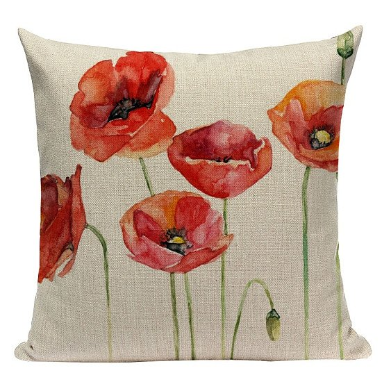 Win 2 @ 45 x 45 cm Floral Cushion Cover