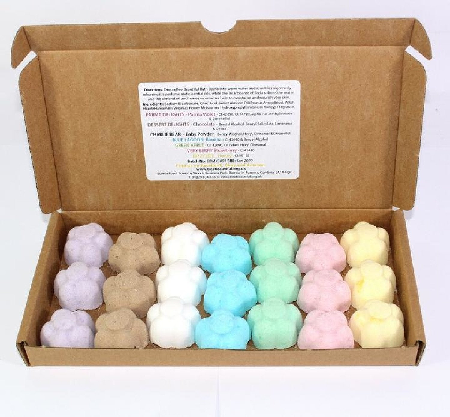 21pk Bath Bombs Set – Mixed Scents