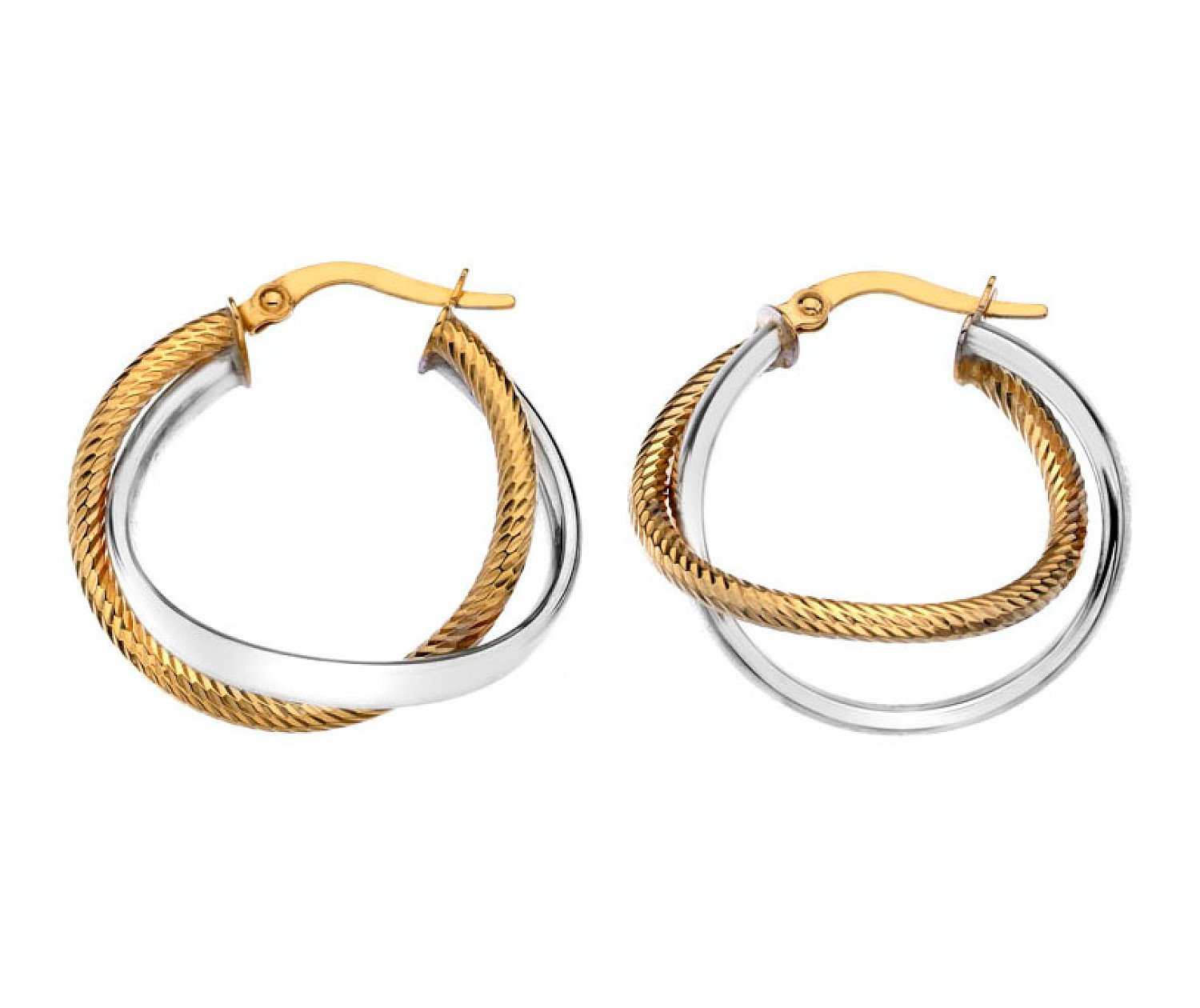 OVER 50 STYLES OF HOOP EARRINGS IN SILVER AND GOLD