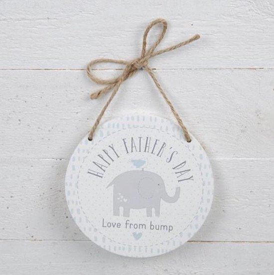 Happy Father's Day From The Bump Hanging Plaque