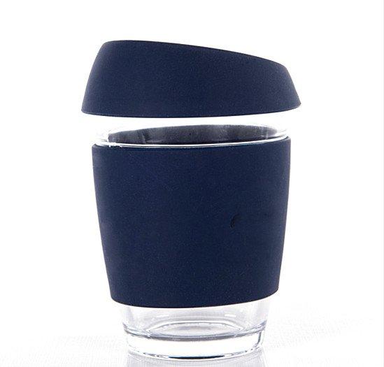 Blue Lagoon Reusable Glass Coffee Cup