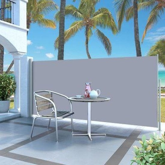 RETRACTABLE SIDE AWNING £140X300CM GREY