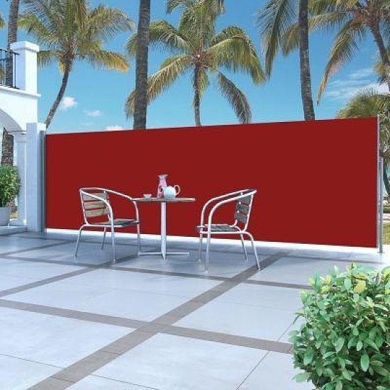 RETRACTABLE SIDE AWNING 160X500CM RED