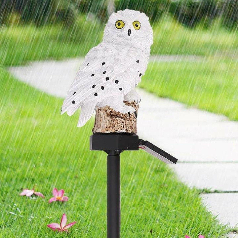 Owl Solar Powered Garden Light LED Outdoor-White