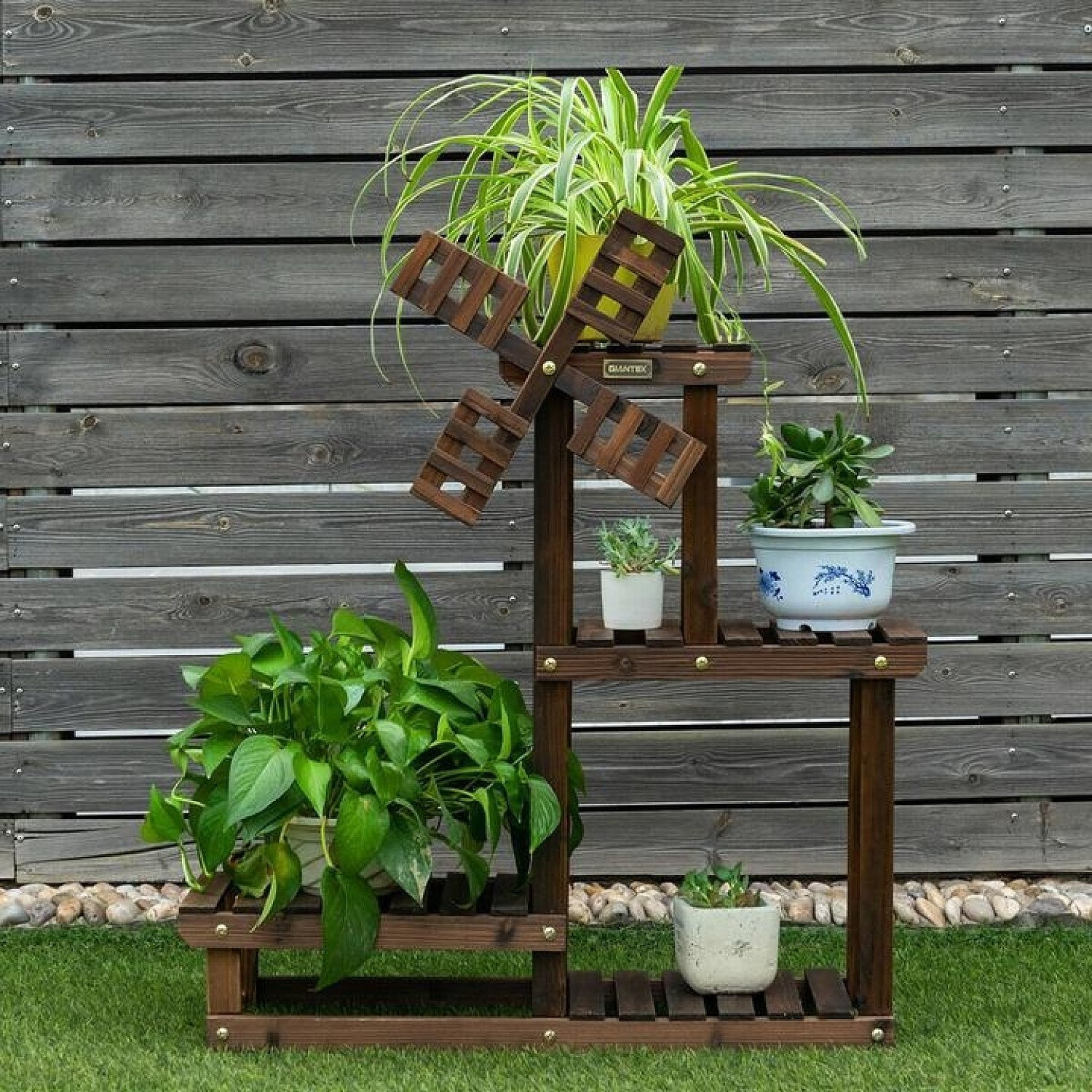 4 Tier Wooden Plant Stand / Flower Display Stand Free Postage