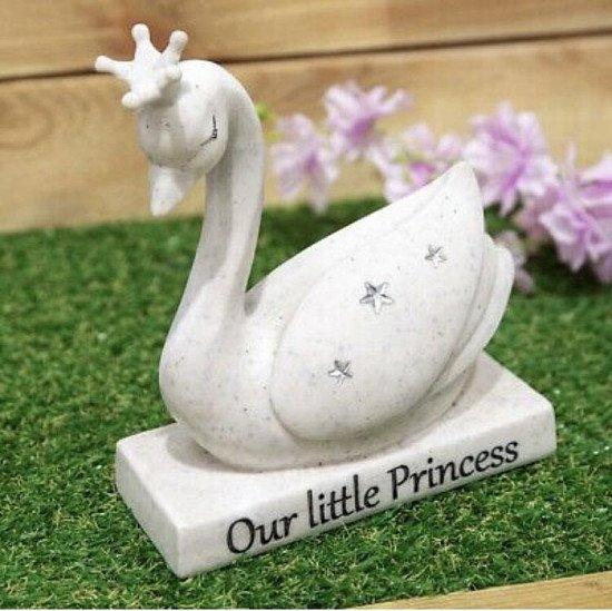 Our Little Princess Swan Graveside Swan