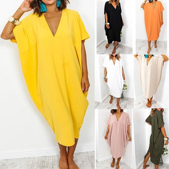 Ladies Summer Holiday Midi Dress - 7 colours