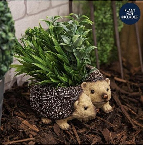 Naturecraft Collection - Pair Of Hedgehog Planter