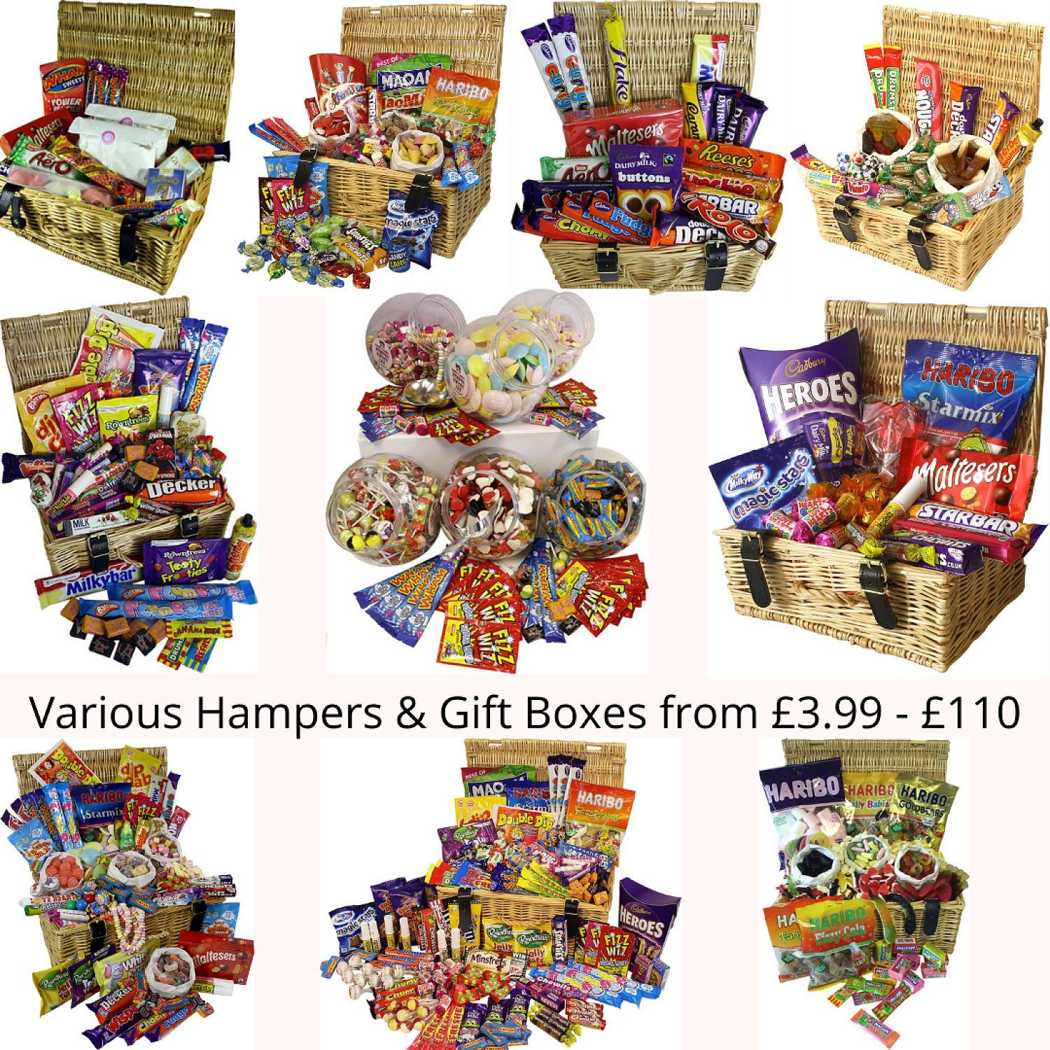 Sweet Hampers & Gift Boxes from £3.99 - £109.99