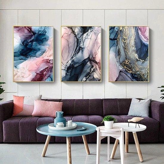Multicolour Cloud Canvas Wall Art - Various Sizes