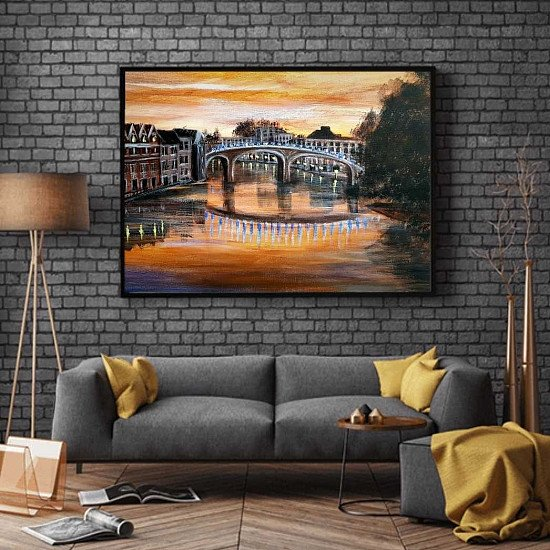 SUNSET OVER ETON -  original canvas  giclee print £55