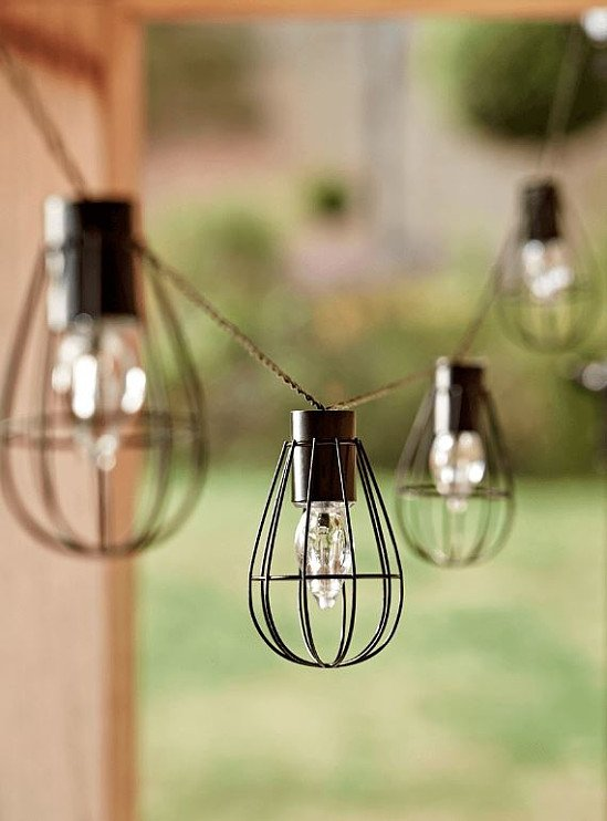 NEW Solar Teardrop Cage Festoon Lights - £25.00!