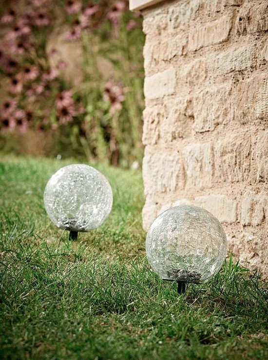 NEW Two Solar Crackle Stake Lights - £35.00!