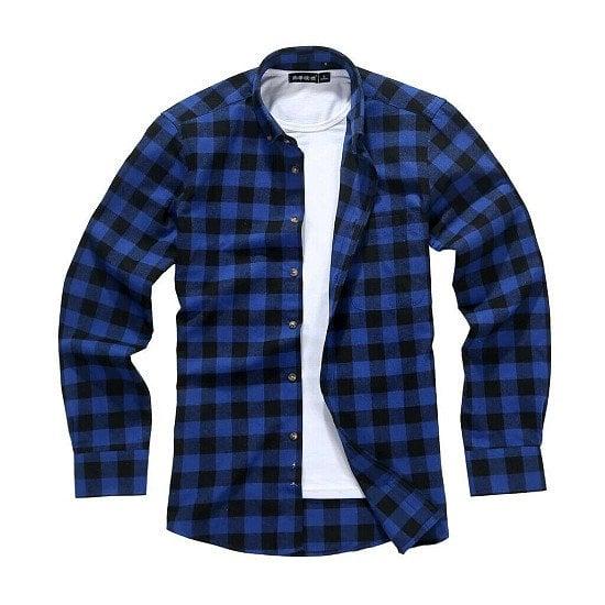 Mens Lumberjack Shirt,Matching Face Mask,Casual Soft Flannel Style Tartan Check