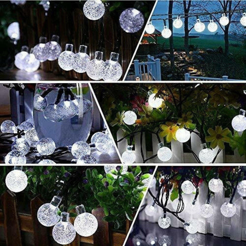 50 LED Solar Powered Garden Party-White Free Postage