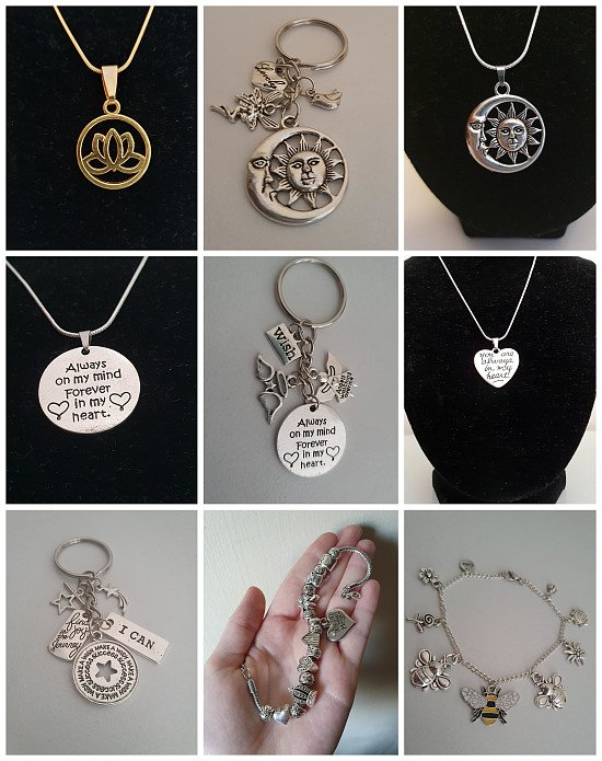 Gorgeous Necklaces, Keyrings and Bracelets