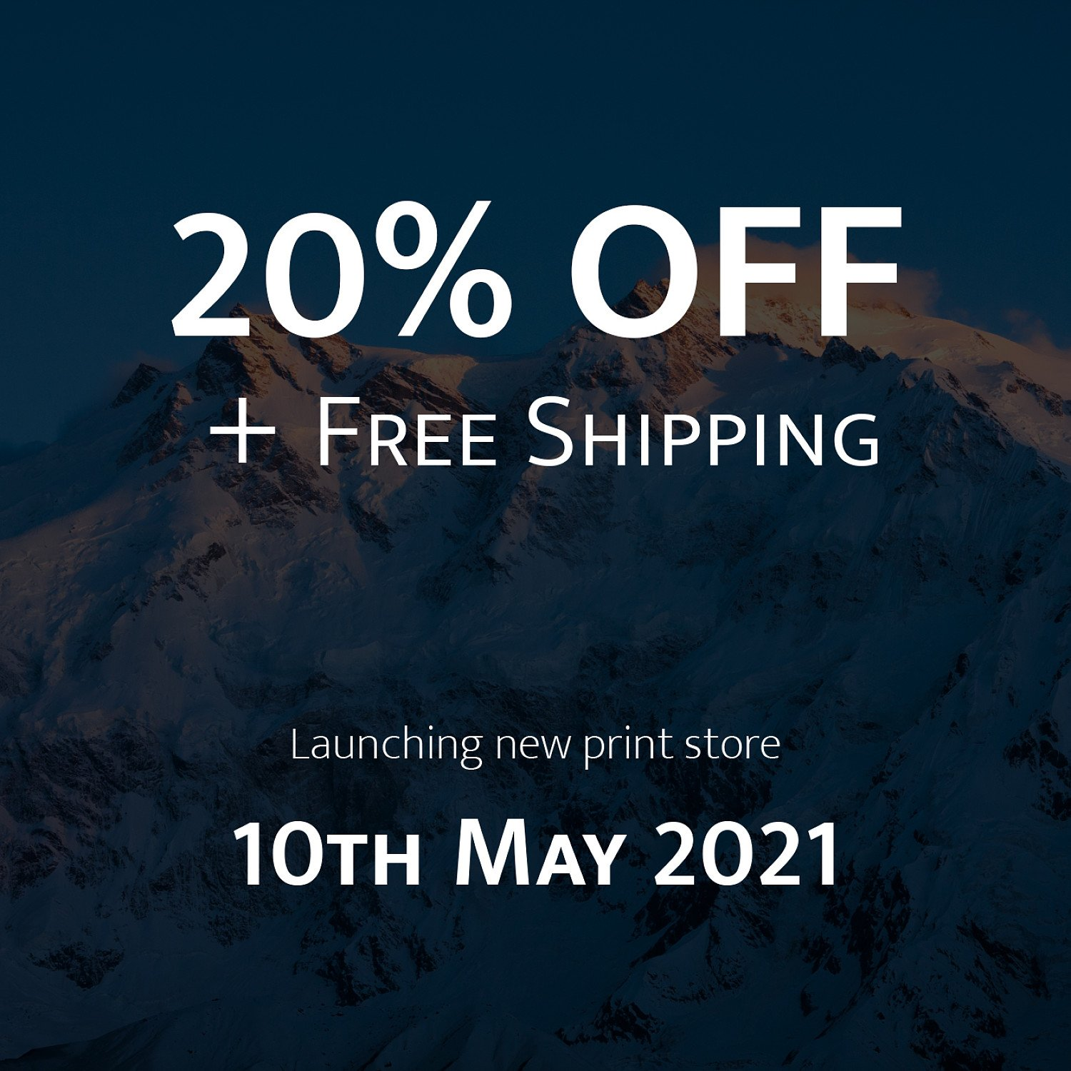 Fine Art Photography Print Store Launch (20% Off + Free Shipping)fa