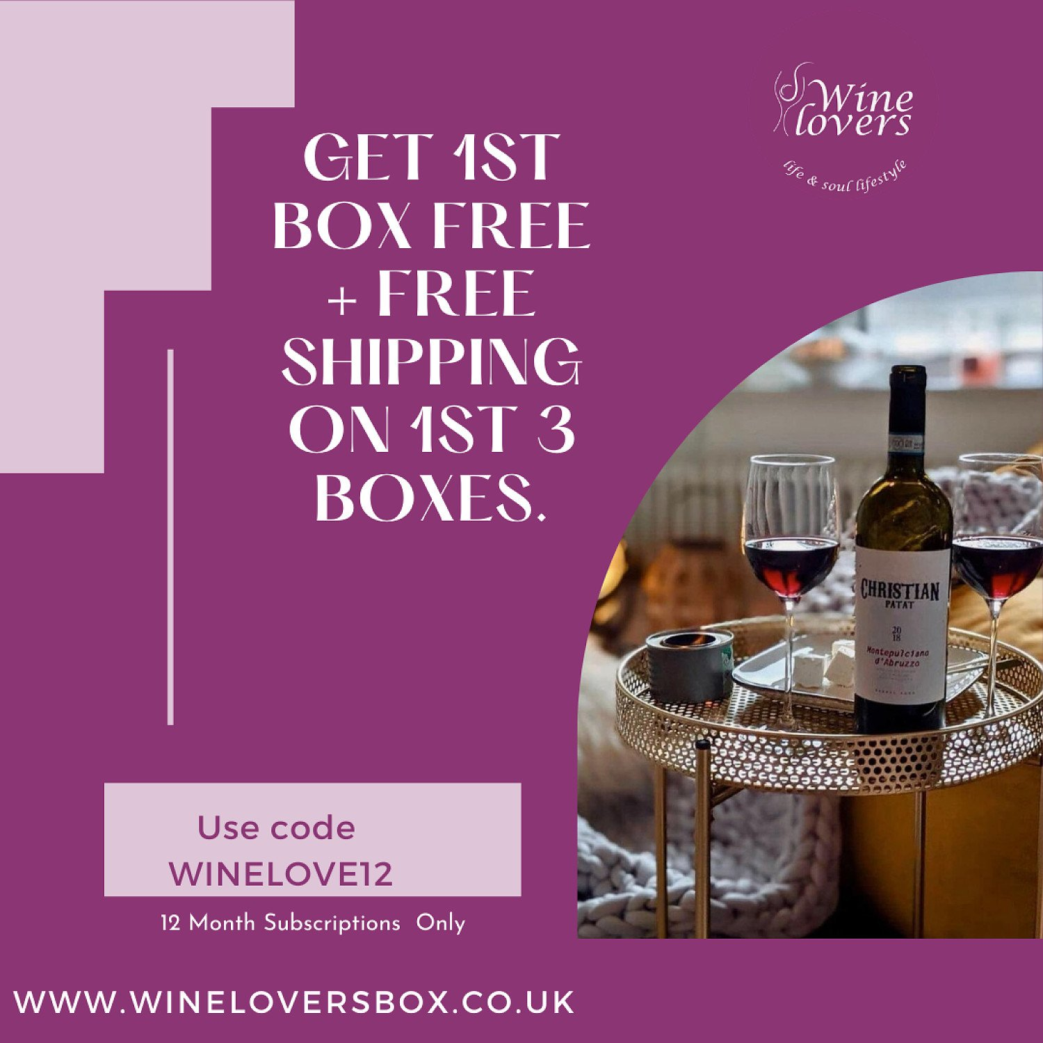 Get the first Wine Lovers Box for FREE!