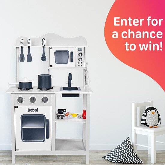 WIN this boppi Wooden Toy Kitchen with 19 Piece Accessories Set