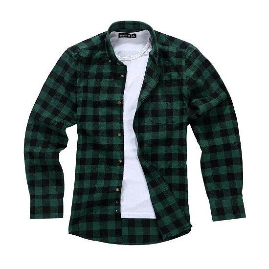 Men's Lumberjack Tartan Shirt, Brunswick Racing Green.
