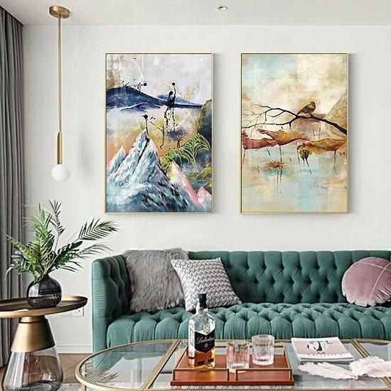 Luxury Japanese Landscape Canvas Painting - Various Sizes