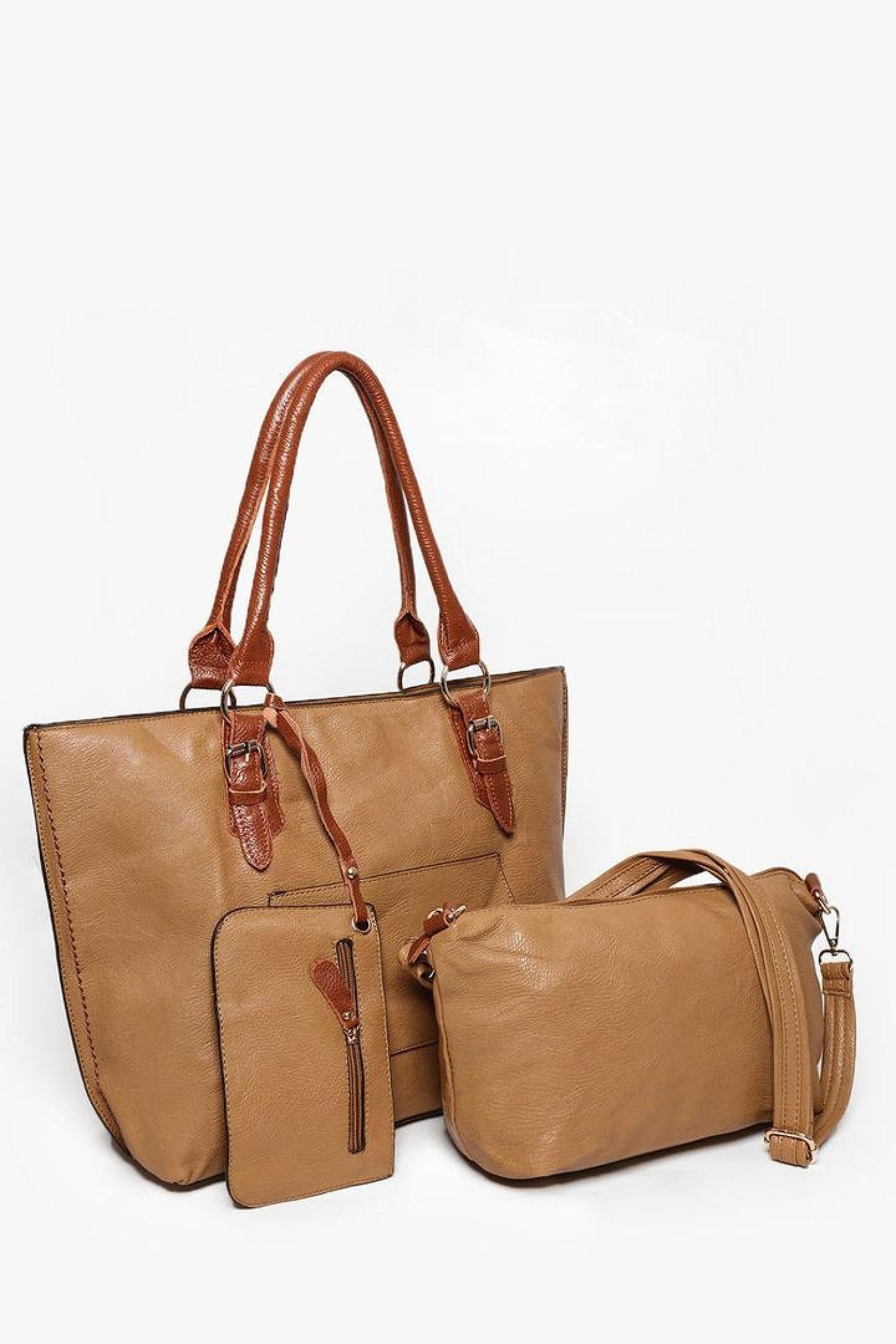 Brown Vegan Raw Soft Leather 3 in 1 Free Postage