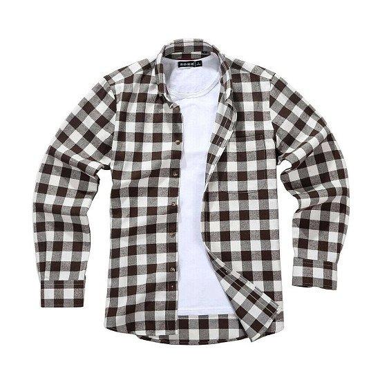 Men's Lumberjack Tartan Shirt, Brownstone Bobby.