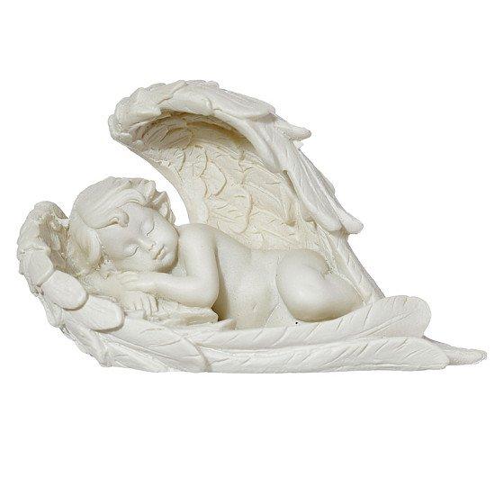 Sleeping Cherub Lying on Side Figurine