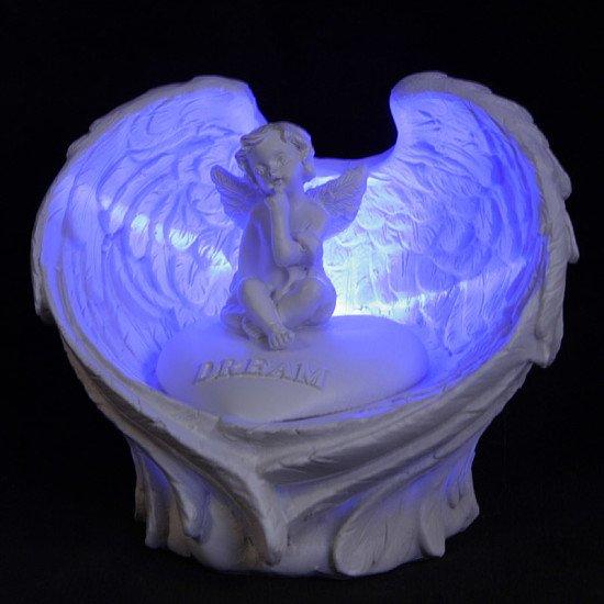 LED Love Heart Message LED Cherub Ornament