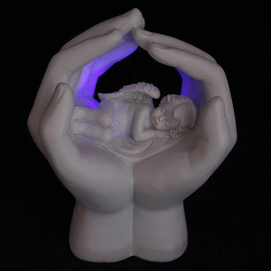 LED Cute Hands and Sleeping Cherub Ornament