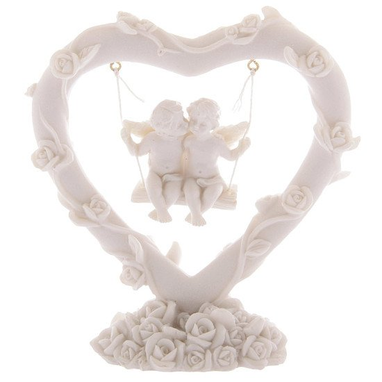 Cute Cherubs Floral Heart Swing