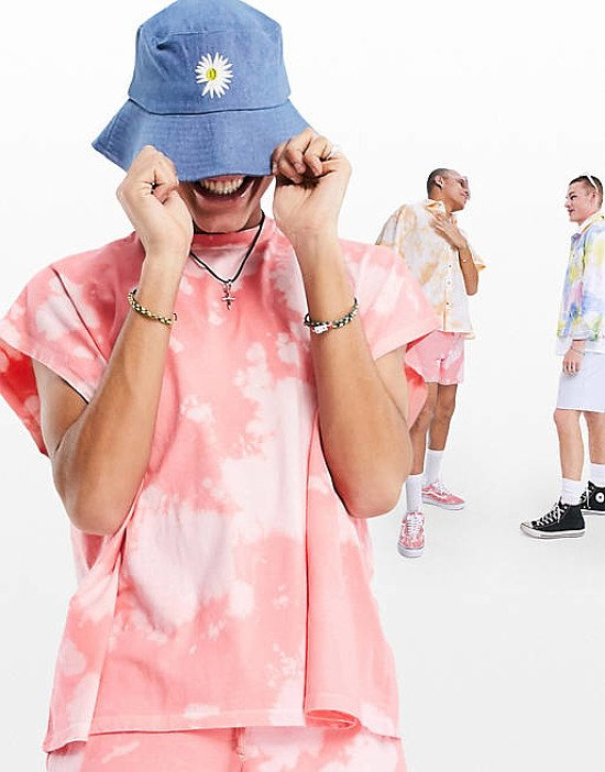 ASOS DESIGN bucket hat in denim with embroidered daisy - £12.00!