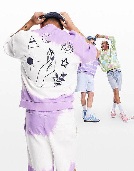 ASOS DESIGN oversized co-ord washed short sleeve sweatshirt and shorts with myst - £25.00!