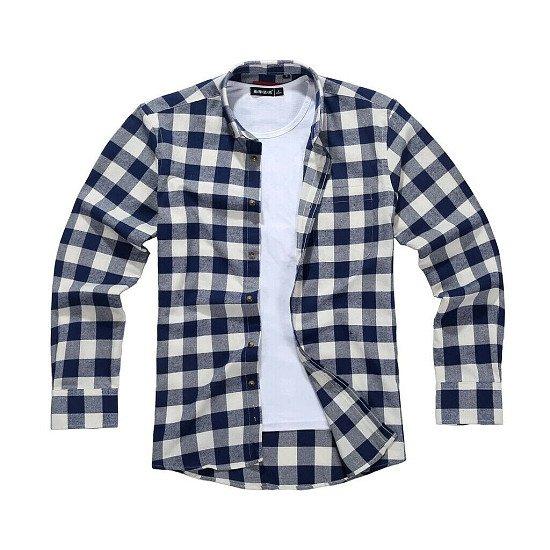Men's Lumberjack Tartan Shirt, Moody Blue Navy.